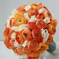 orange wedding themes